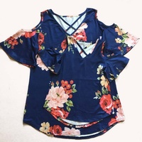 Wholesale Womens Boutique Clothing High Quality chiffon tops for women