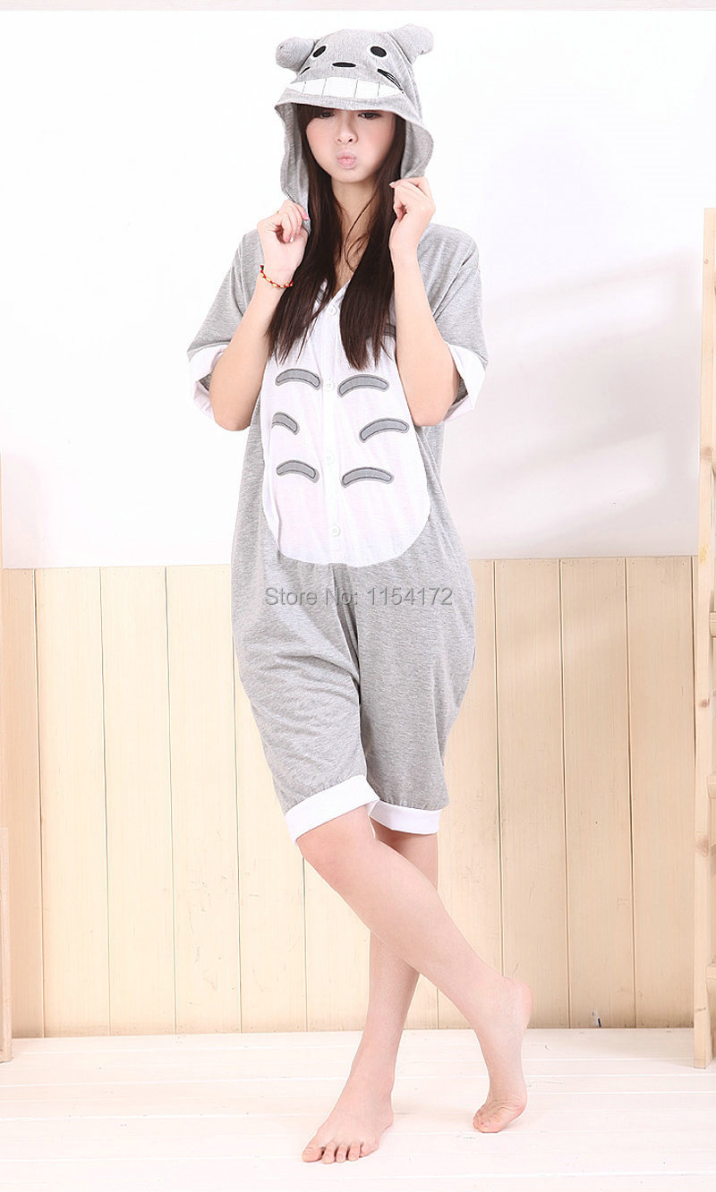 Get Quotations · Totoro Unisex Adult Summer onesie pajamas galesaur Anime  animal jumpsuit Hoodies sleepwear costume pyjamas K03 7b4f1ba31