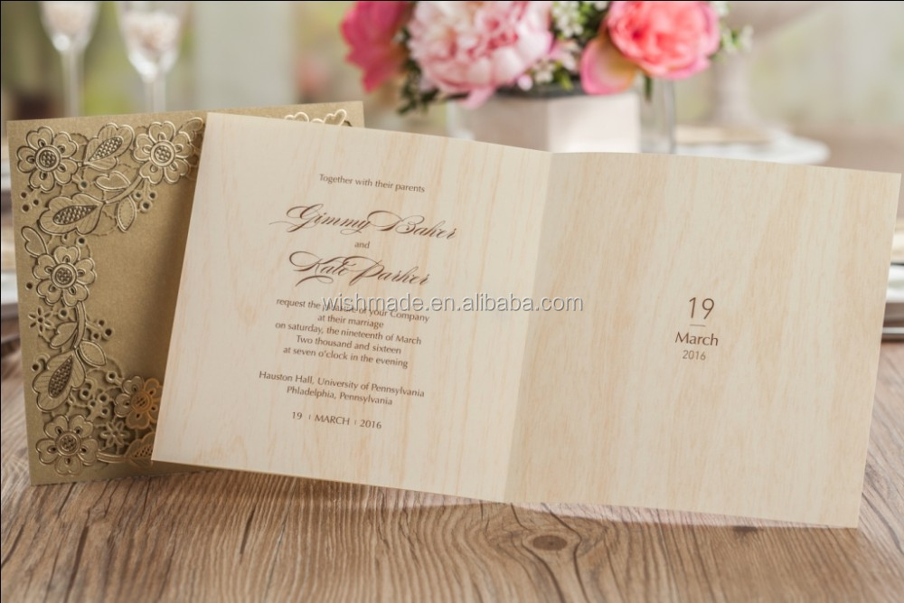 Wishmade Arabicindia Royal Wedding Invitation CardBirthday Card