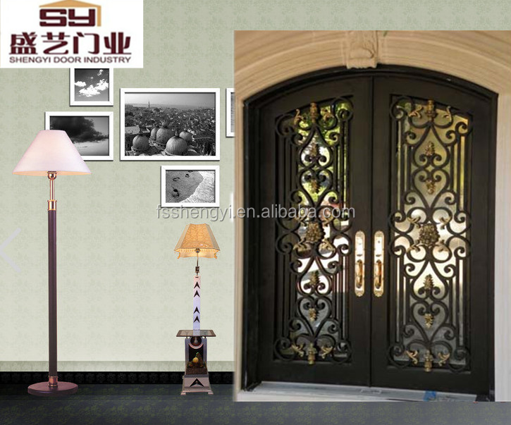 Manufacture wronght iron entry double /single door