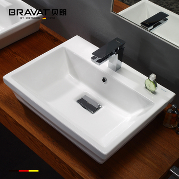 Ceramic Countertop Moroccan Sink Square Cabinet Fancy Bathroom Sinks C22191w
