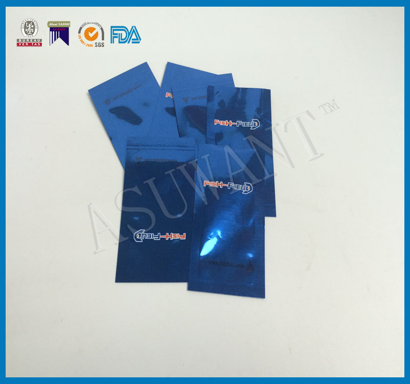 3 side seal flat sachet packaging small plain bag foil lined Single-use Printed Packaging Bag for medical pill use