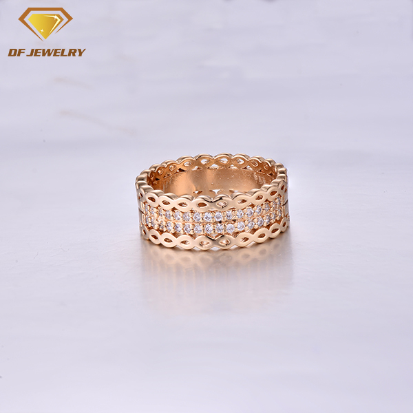CR1707511 AAA white cz setting brass jewelry simple gold ring designs