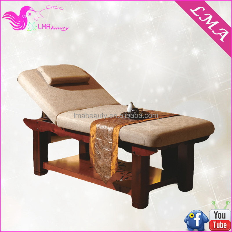 Antique contemporary wooden pink massage table bed MD147