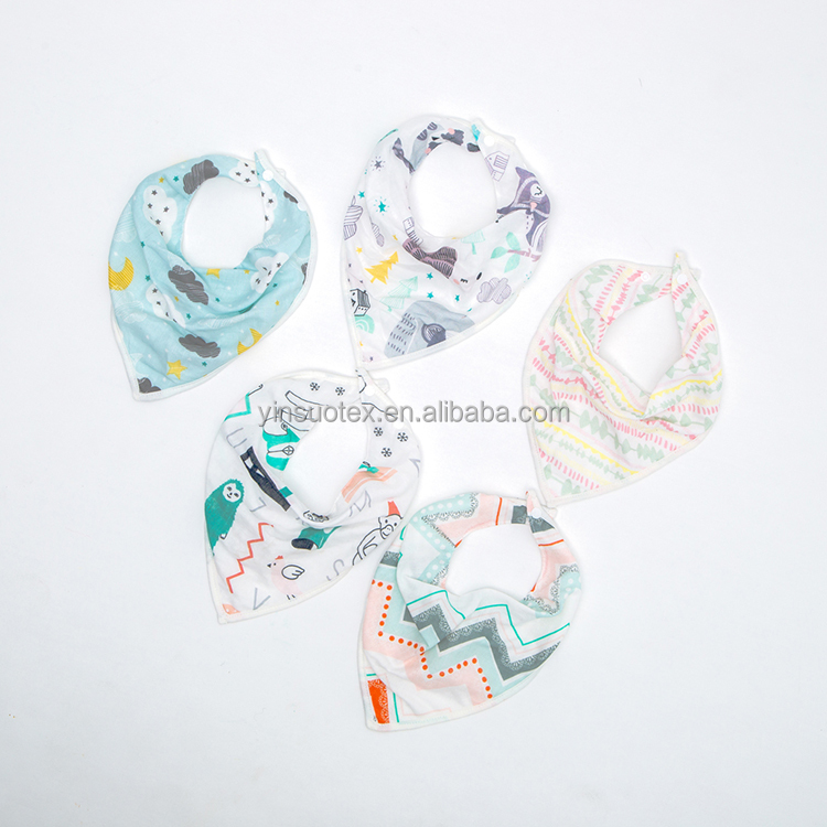baby bibs wholesale various patterns triangle cotton bibs