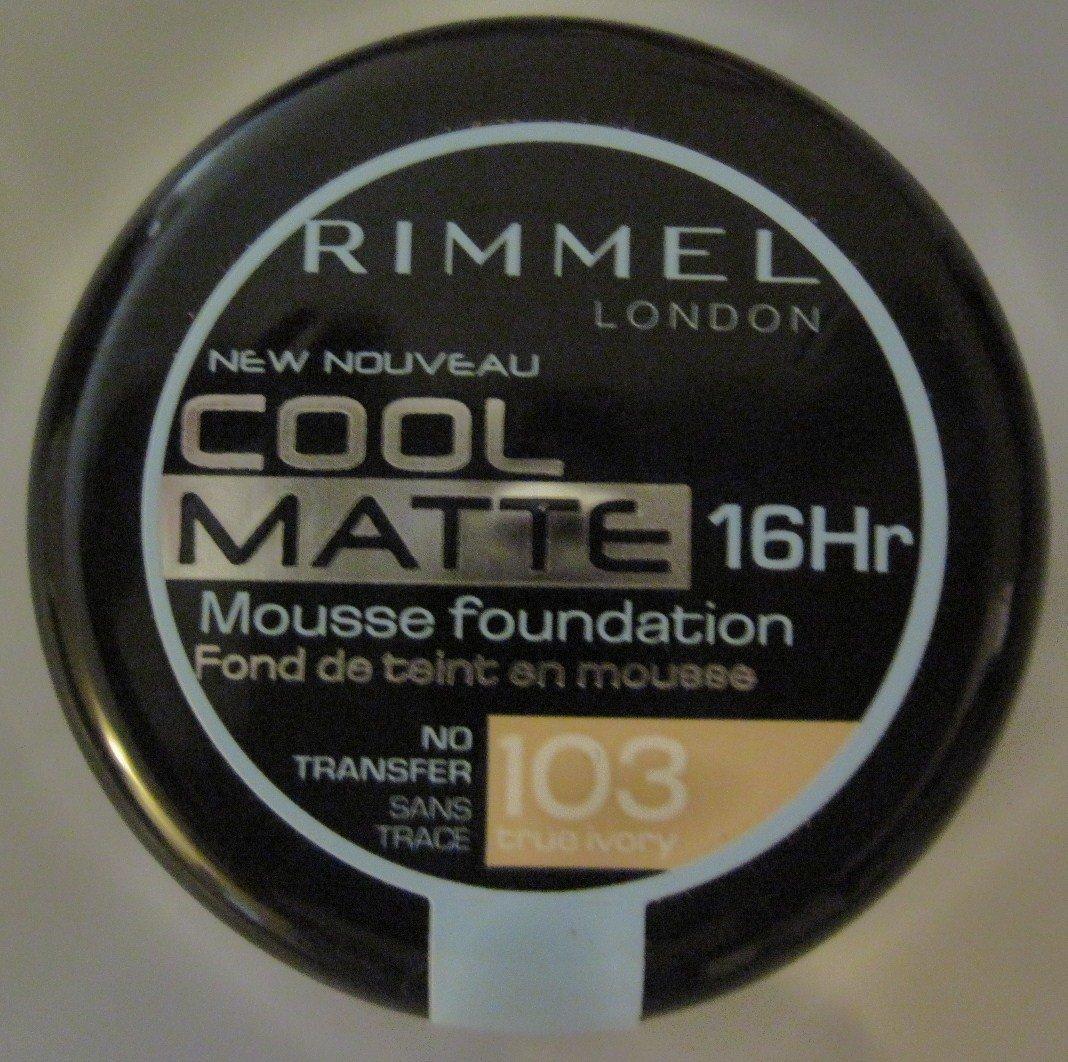 Rimmel Cool Matte 16 Hr Mousse Foundation True Ivory 103