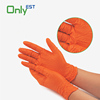 Cheap disposable single use powderfree textured dotted nitrile examination glove