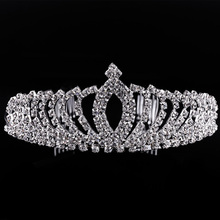 Fashion beauty pageant silver crowns wedding tiaras wholesale hair accessories OEM&ODM
