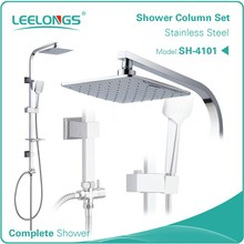 Stainless steel sliding bar shower set
