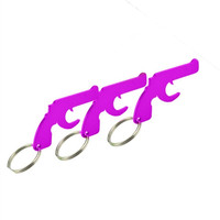 HXY 2019 cheap logo keychain gun shape bottle opener pistol bottle opener keychain for promotion and souvenir