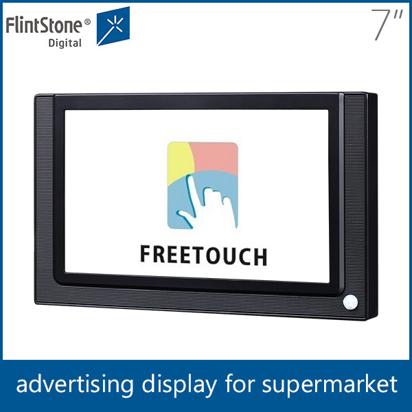 "Flintstone 7"" plastic casing,android lcd monitor,wall mount pos touch screen, loop display electronic board"