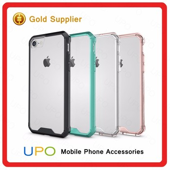 [UPO] Wholesale New Shockproof For iPhone 7 TPU PC Hybrid Phone Case Crystal Back Case