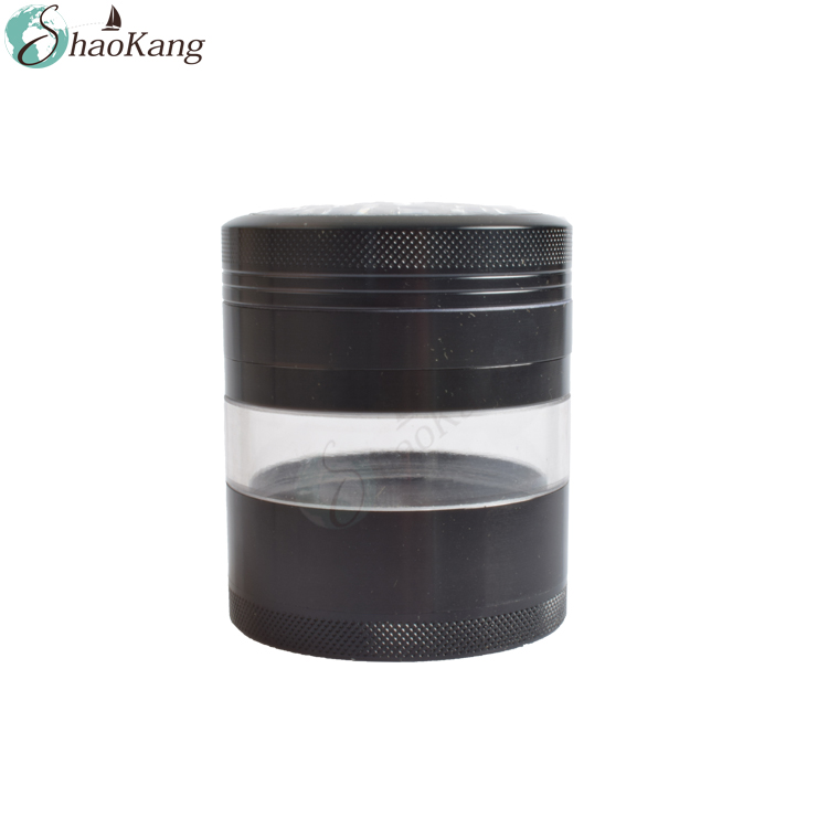 Best Selling Amazon 3.2 Inch Herb Grinder with Pollen Catcher Black Weed Grinder