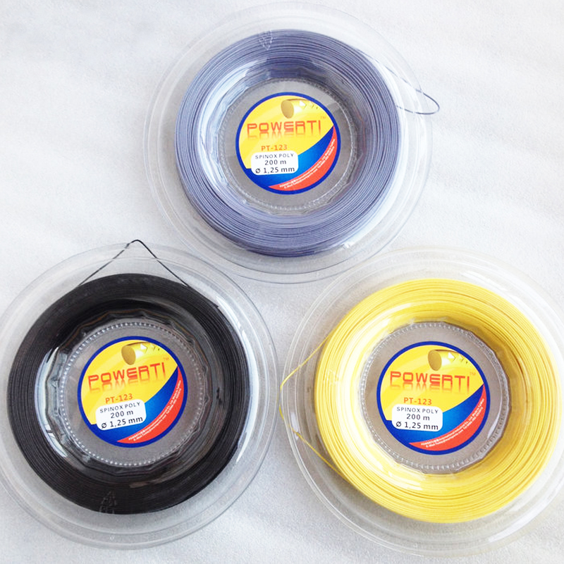 Logo Aangepaste Grote Banger Concave hoek Polyester Alu Power Rought 1.25mm Tennis String Reel 200 m