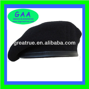 100% wool black boinas militares made in China
