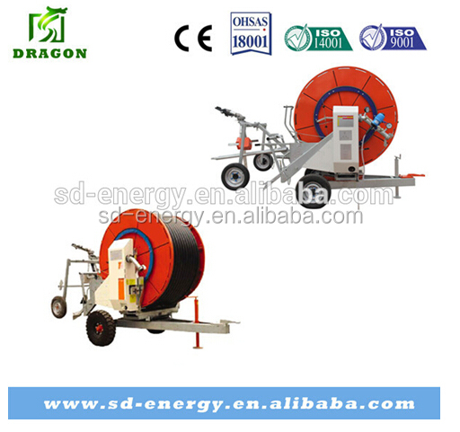 Hose Reel Irrigation machinery with Rain Gun Sprinkler