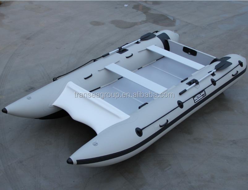 Ce certificate welded aluminum floor catamaran 2 person for Catamaran fishing boats for sale