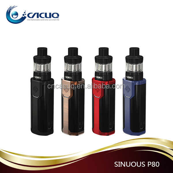 2017 CACUQ supply 0.96 inch screen WISMEC SINUOUS P80 + ELABO Mini Kit wholesale in stock