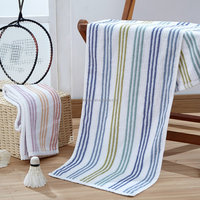 Custom 100% combed cotton terry fabric color stripe exercise sports towel
