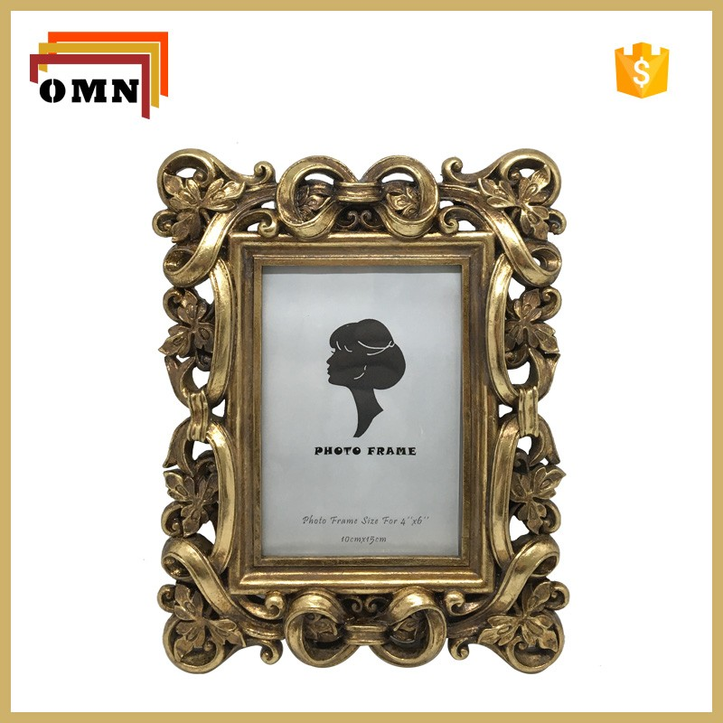 Antique gold resin picture photo frame wholesale buy 4x6 - Antique picture frames cheap ...