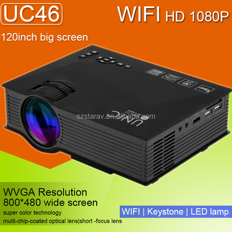 Projector LCD Module Video Proiettori LED Home Cinema Projector with HDMI VGA USD port