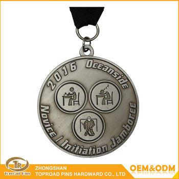 factory price custom round 3d student medal