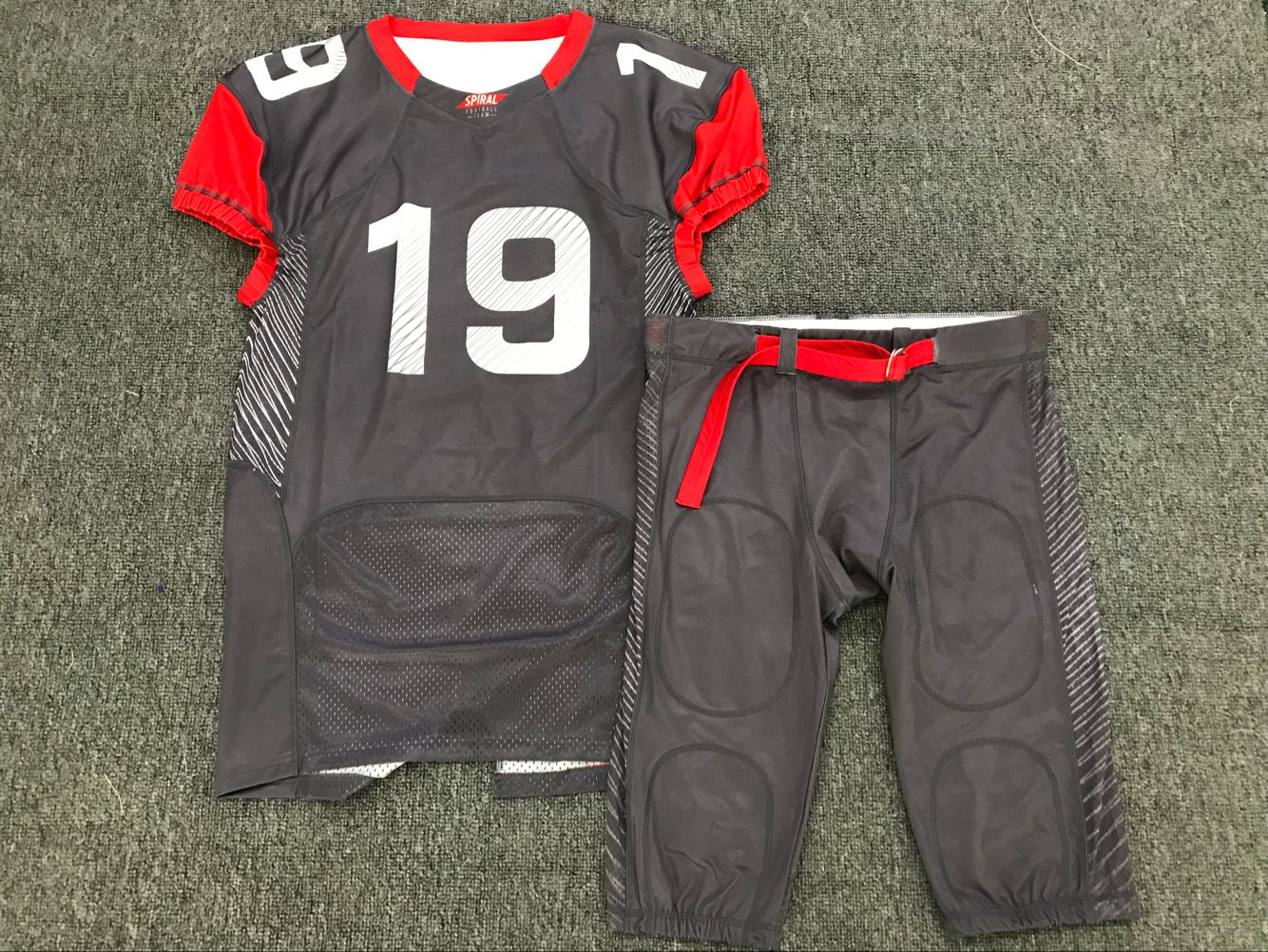 Latest new style cheap wholesale cool custom American football jersey design your own American sportswear/fitness shirts