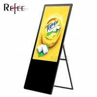 "43"" floor stand Retail digital advertising screen with QR barcode scanner"