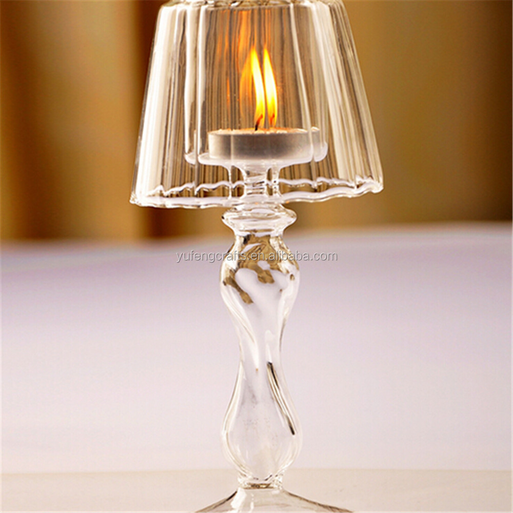 Clear Glass Candles Big Size Hand Blown Glass Lamp Shades