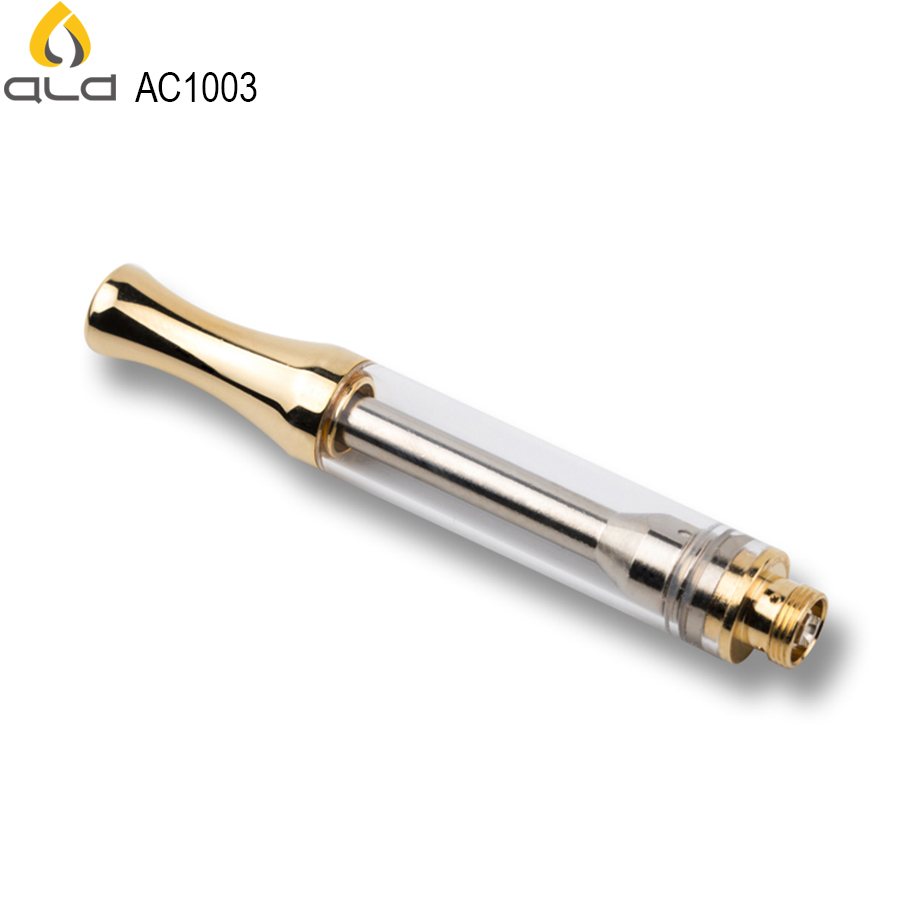 Authentic Ald Ikrusher Ac1003 Leak-free Golden Mouthpiece Ceramic Heating   6ml Cbd Oil Cartridge - Buy  6ml Cbd Oil Cartridge,Golden Cbd Oil