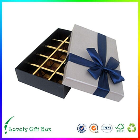 customized rigid paper packaging dessert Top and Botton box
