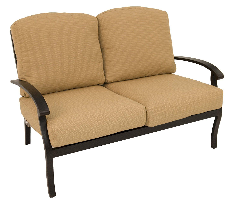 Impacterra BK-482-99-226 Love Seat, Autumn Rust/Bamboo