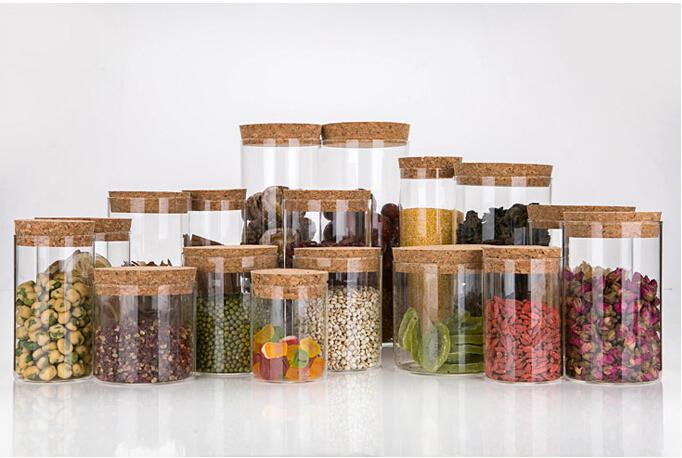haute qualit herm tique conteneur de verre pot avec cork. Black Bedroom Furniture Sets. Home Design Ideas