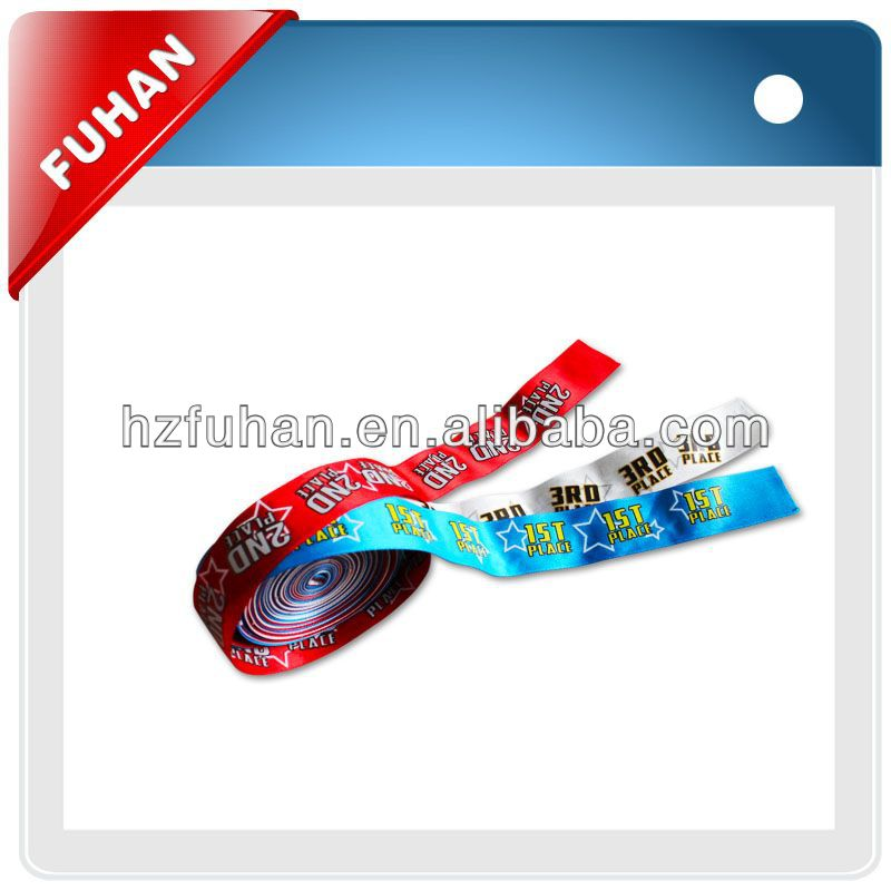100% polyester with double face stitching edge satin ribbon