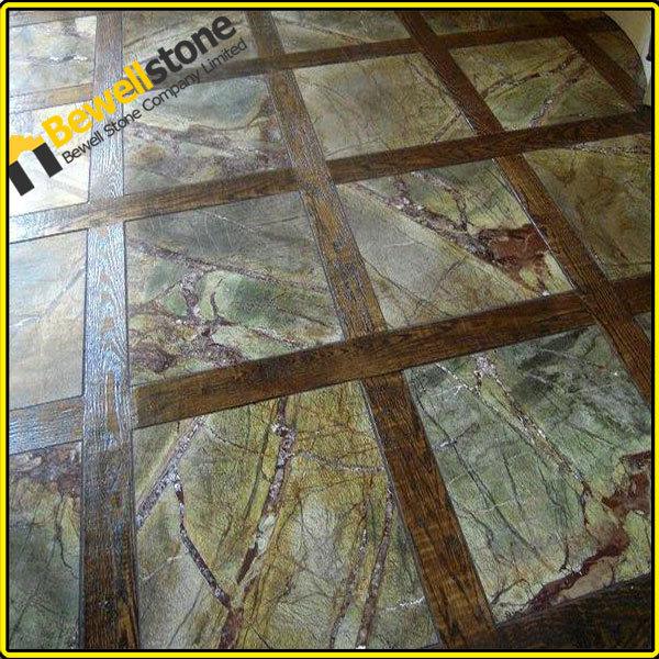 Forest Green Marble : Custom design rainforest green marble bathroom honed