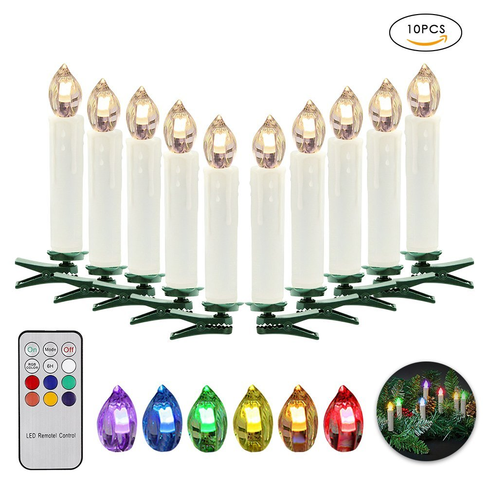 get quotations samber led remote control candles lights led flameless candles christmas tree decorative lights battery powered candles