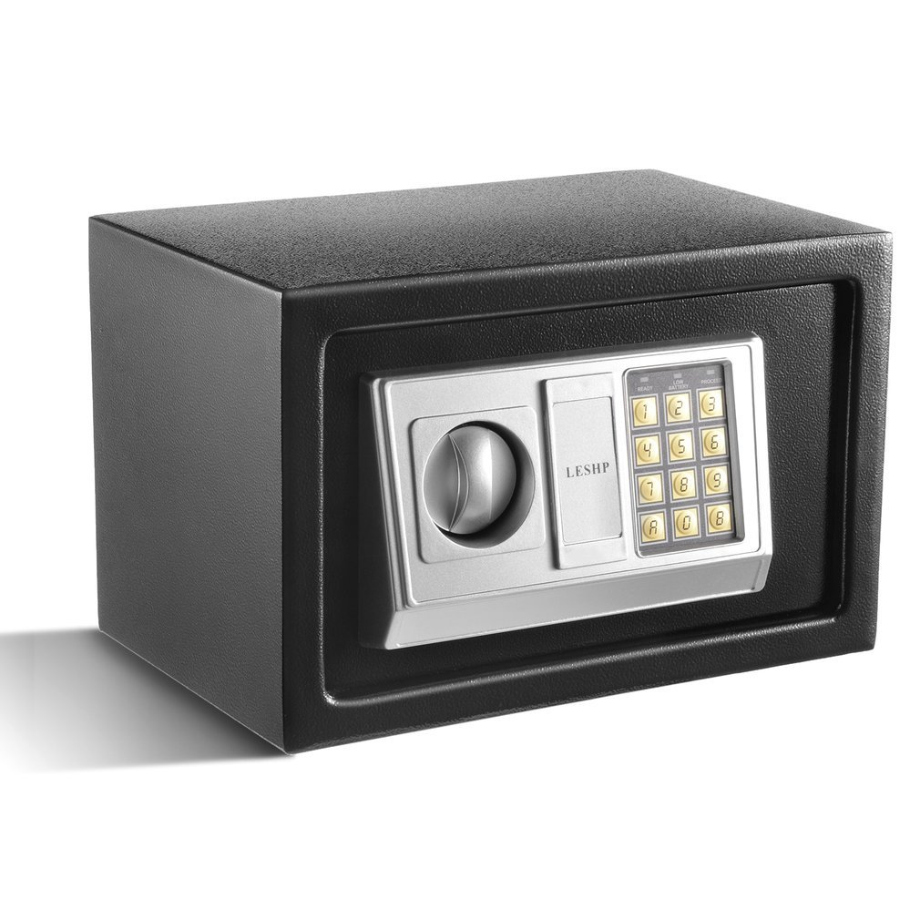 Hotel Safes for Home, Digital Lock Safe Box, 8 Digits Long Programmed Pin Numbers, 0.7 Cubic Feet