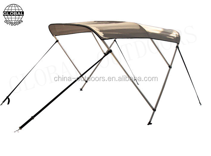 3 bow boat bimini top with 4 adjustable straps