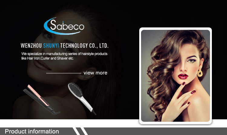 Sabeco 2019 OEM Hair Styling Tools Private Label Custom Flat Iron Professional Tourmaline Ceramic Hair Straightener
