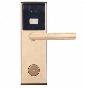 Gold And Silver Color Keyless Card Swipe Security Electronic Rfid Hotel Room Door Lock