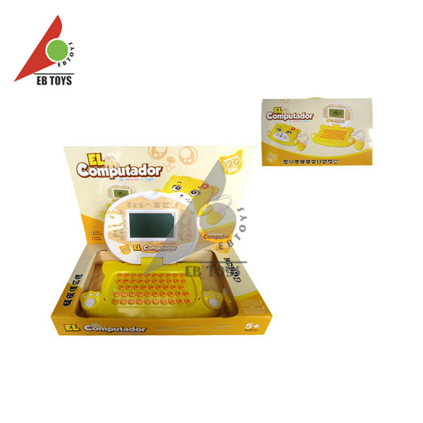 Plastic toys color screen laptop children intelligent learning machine