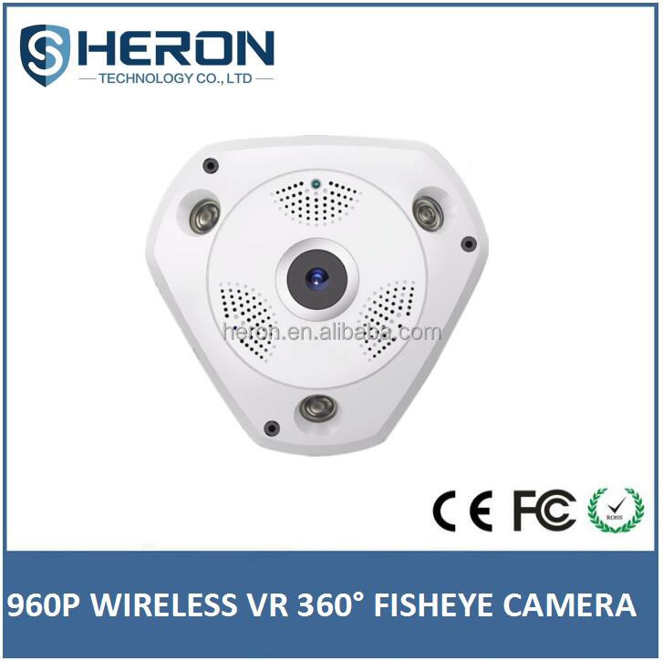 Heron new Fisheye IP Camera 360 degree 3D wifi VR glasses wireless network camera