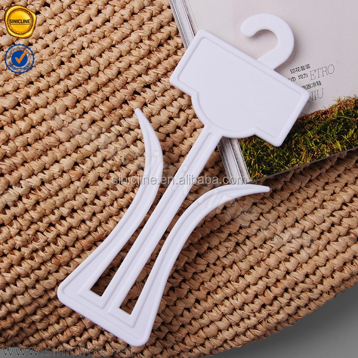 Customized logo plastic slipper display hanger, shoes hanger and hook