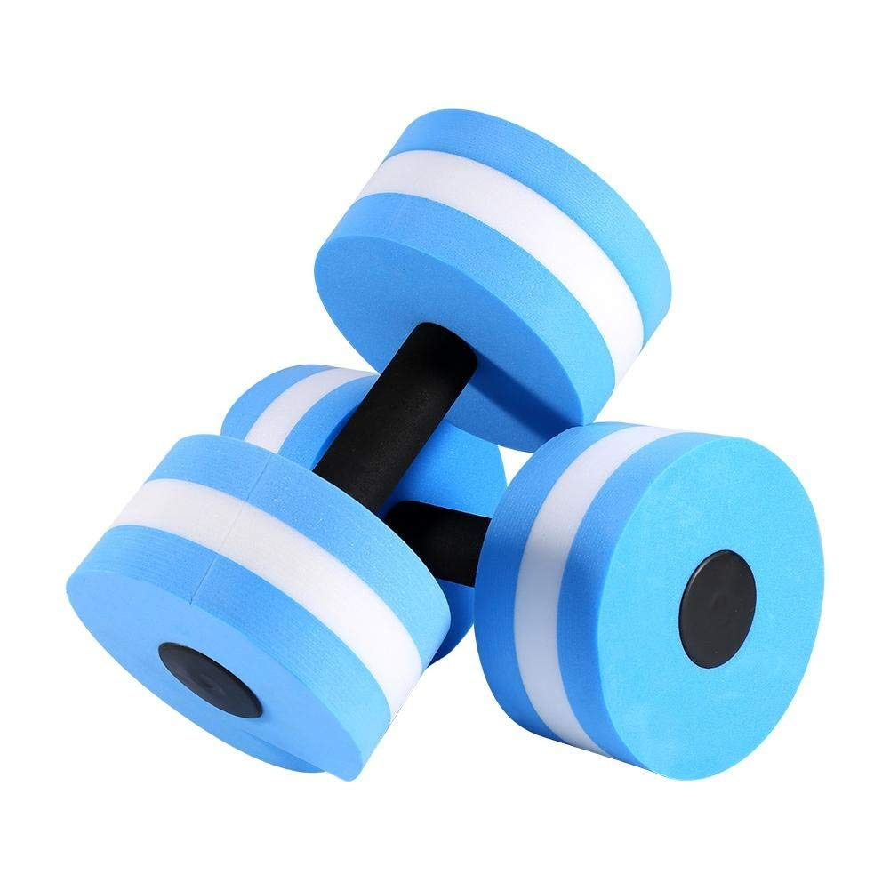 b0c3dc1e76a Get Quotations · Dilwe 1 Pair Water Aerobics Dumbbell Aquatic EVA Barbell  Aqua Fitness Swimming Exercise Tool