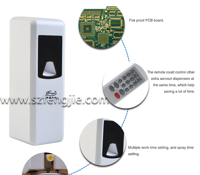 Air freshener bathroom fragrance dispenser with remote control