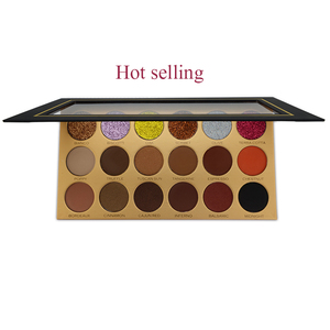 Hot Selling Makeup Cosmetics Private Label 18 Colors Glitter Eyeshadow Palette
