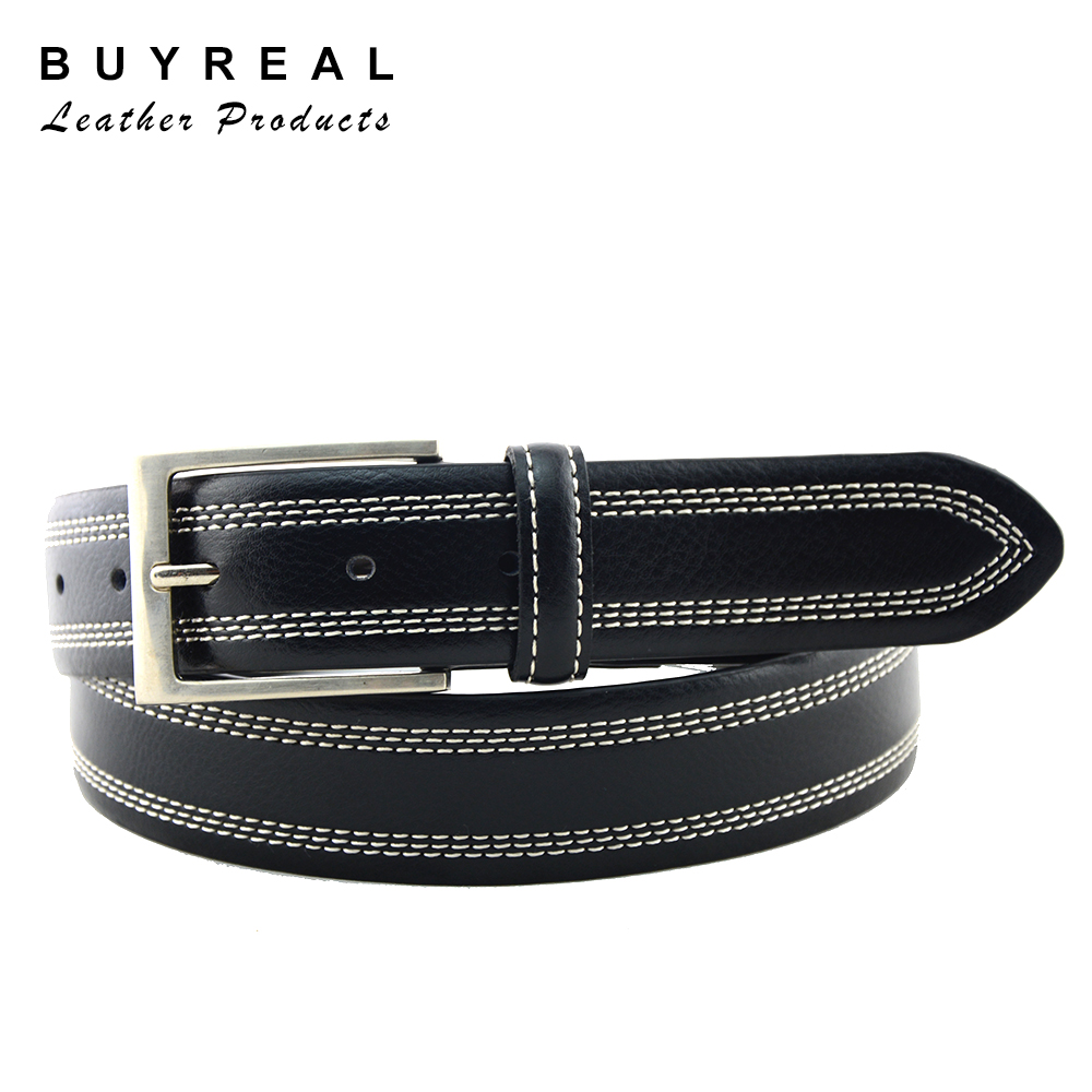 Men's Stitched Needlepoint Casual Belt OEM Factory Direct
