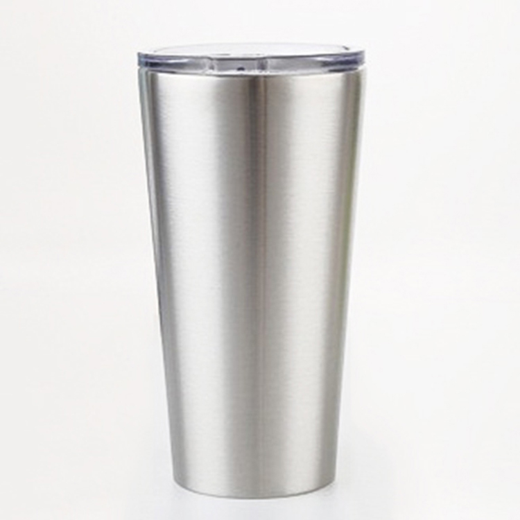 16OZ Stainless Steel Tumbler Cups Double Wall Wine Mug With Lid