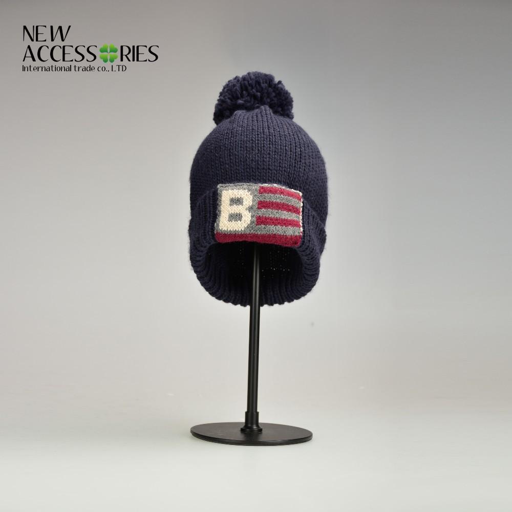 Venta al por mayor patrón que hace punto el sombrero para el hombre ...