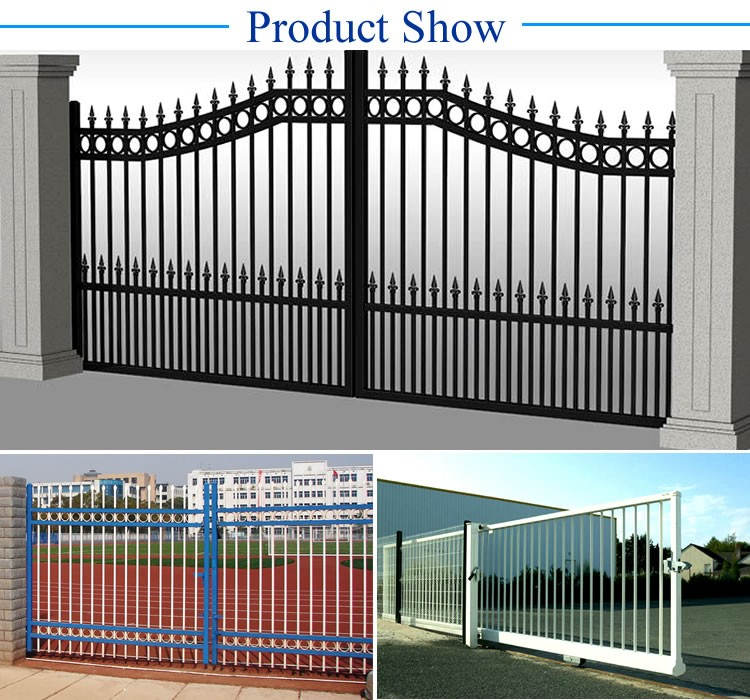 Residential metal wrought iron fencing fences elements